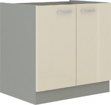 Spodní kuchyňská skříňka PRADO 80 ZL 2F BB dřezová, krémová lesk