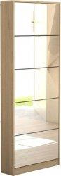 Botník Flap 052 5KL oak/zrcadlo