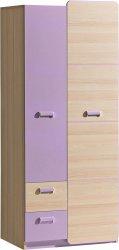 Dětská šatní skříň LIMO L1 fialová