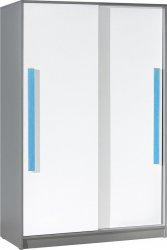 Šatní skříň GYT 13 antracit/bílá/modrá