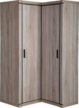 Rohová šatní skříň DALLAS D-21 pravá, výběr barev