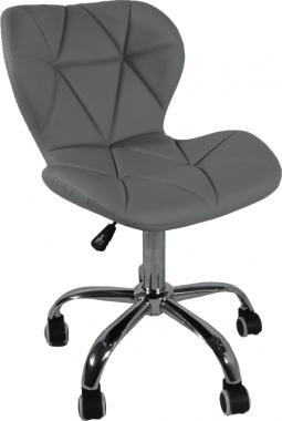 Designová kancelářská židle ARGUS, světle šedá/chrom