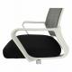 Kancelářská židle APOLO, síťovina šedá/černá/bílý plast