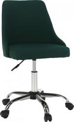 Designová kancelářská židle EDIZ, smaragdová/chrom