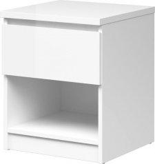Noční stolek Simplicity 238 bílý lesk