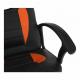 Kancelářské křeslo MADAN NEW, ekokůže černá/oranžová