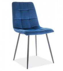 Jídelní židle MILA velvet granátově modrá/černý kov