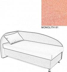 Čalouněná postel AVA NAVI, s úložným prostorem, 90x200, levá, MONOLITH 61