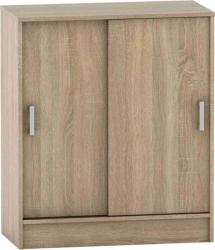 Komoda BETTY 4 BE04-009-00 s posuvnými dveřmi, dub sonoma