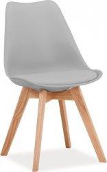 Jídelní židle KRIS světle šedá
