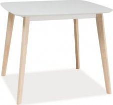 Jídelní stůl TIBI bílá/dub bělený