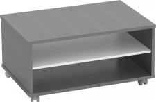 Konferenční stolek RIOMA TYP 32, grafit/bílá
