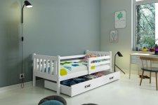Dětská postel Carlo 80x190 s úložným prostorem, bílá
