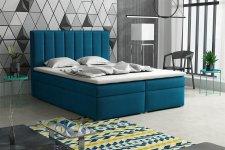 Čalouněná postel LUCINI BOX 160x200, s úložným prostorem, výběr látek