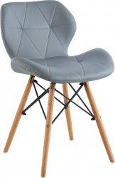 Designová jídelní židle BOSSE, šedá