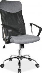 Kancelářská židle Q-025 šedá/černá látka