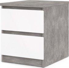 Noční stolek Simplicity 230 beton/bílý lesk
