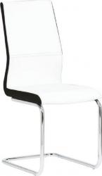 Pohupovací jídelní židle NEANA ekokůže bílá/černá/chrom