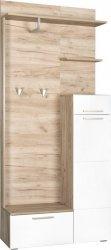 Předsíňová stěna LAIN dub kraft šedý/bílá lesk