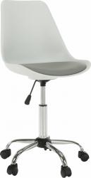 Kancelářská židle DARISA NEW, bílá/šedá