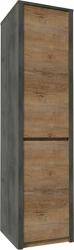 Skříň MONTANA S1D policová, dub lefkas tmavý/smooth šedý
