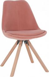 Jídelní židle SABRA, růžová Velvet látka/buk