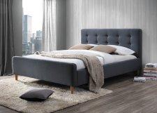 Čalouněná postel PINKO 160x200, šedá