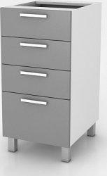 Kuchyňská skříňka Natanya SZ40 4SZ bílý lesk