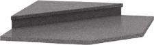 Nástavec k rohové skříňce 065, dekor granit antracit, NOVA PLUS