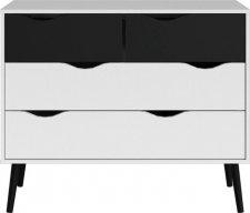 Komoda Retro 395 bílá/černá