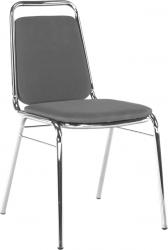 Konferenční židle ZEKI stohovatelná, šedá síťovina