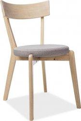 Jídelní čalouněná židle NELSON šedá/dub medový