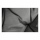 Otočné křeslo s polštářem, šedá / černá / světle šedá, TRISS