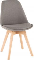 Jídelní židle LORITA, šedohnědá látka/buk