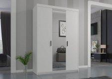 Šatní skříň Enja 3D se zrcadlem, bílá