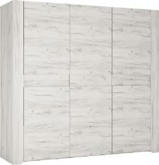 Šatní skříň ANGEL Typ 22, 3D, bílá craft