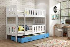Patrová postel Kuba bílá/modrá