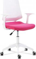 Dětská židle KA-R202 PINK, růžová/bilý plast