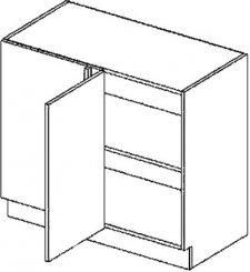 DNPL d. skříňka do rohu rovná GOBI 100 cm