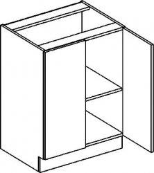 D60 dolní skříňka dvojdvéřová PREMIUM hruška