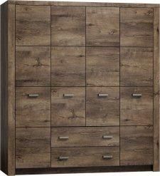 Šatní skříň 4-dveř.INDIANAPOLIS I-18 jasan tmavý