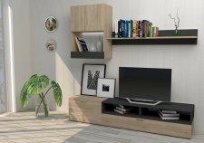 Obývací stěna sestava MINI dub sonoma/antracit