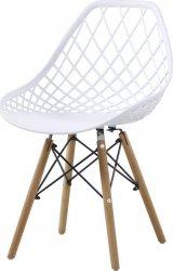 Plastová jídelní židle AQUILA bílá
