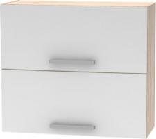 Horní výklopná skříňka 2DV, dub sonoma / bílá, NOVA PLUS NOPL-015-OH