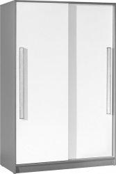 Šatní skříň GYT 13 antracit/bílá/šedá