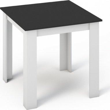 Jídelní stůl MANGA 80x80, bílá/černá
