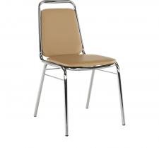 Konferenční židle ZEKI stohovatelná, hnědá ekokůže