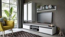 Obývací stěna sestava OHIO bílá/antracit