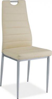 Jídelní židle H-260 krémová/chrom