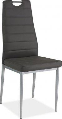 Jídelní židle H-260 šedá/chrom